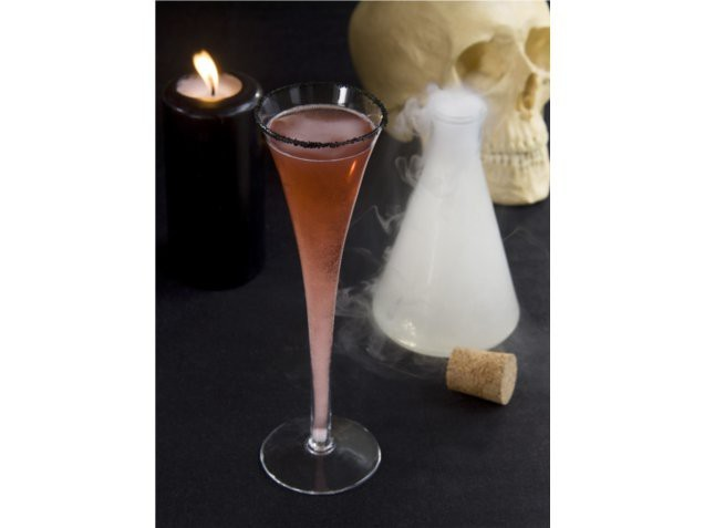 The morticia champagne cocktail