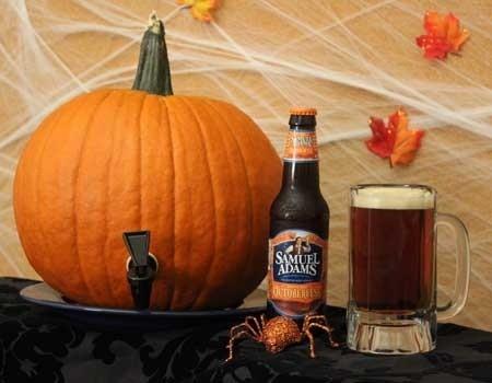halloween pumpkin keg