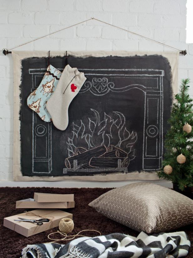 chalkboard-faux-fireplace