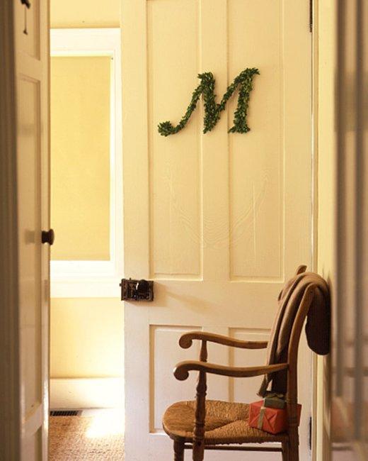 monogrammed christmas wreath martha stewart