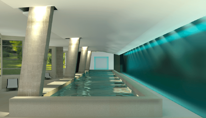 DC's Finest   Rendering of the indoor pool at Park Chelsea Apartments   Apartment Hunting   Capitol Riverfront, Southeast DC