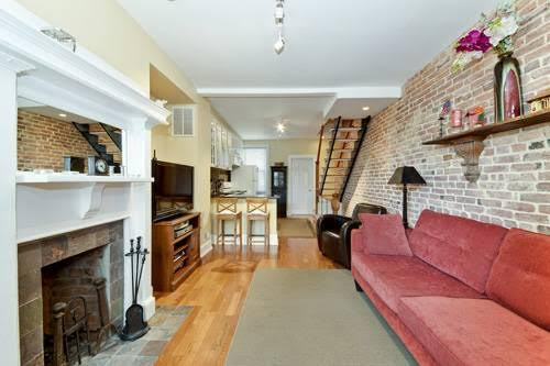 shaw 2 bedroom with exposed brick galore