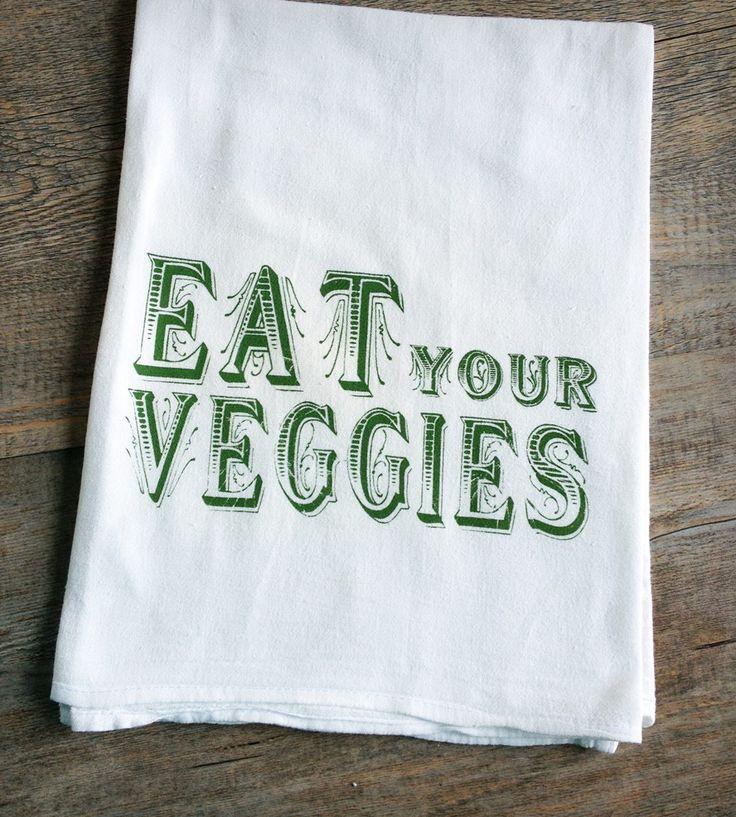 Apartminty Fresh Picks | Eat Your Veggies Tea Towel