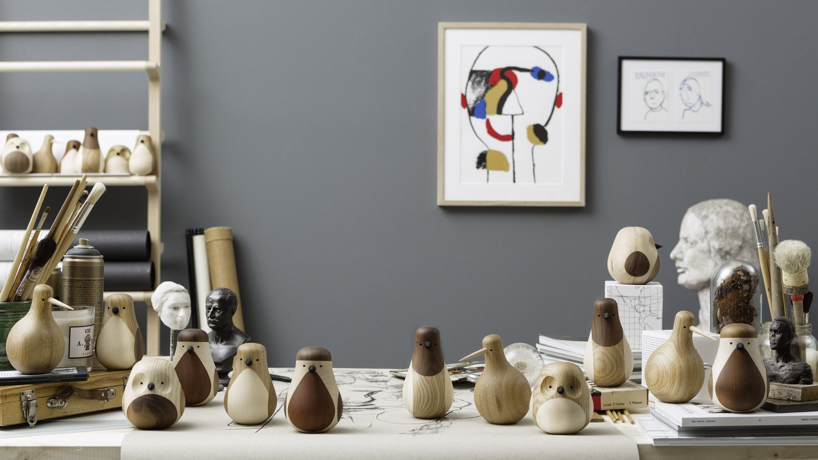 Apartminty Fresh Picks | Animal Theme | Turned Oak Kiwi Birds