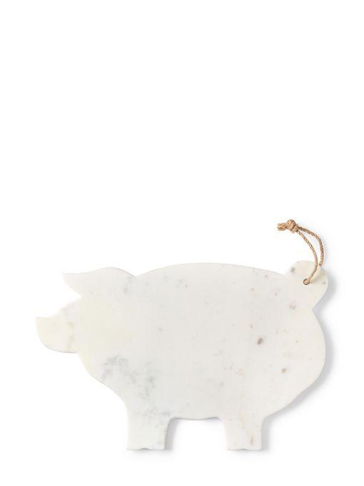 Apartminty Fresh Picks | Animal Theme | Marble Pig Cheese Board