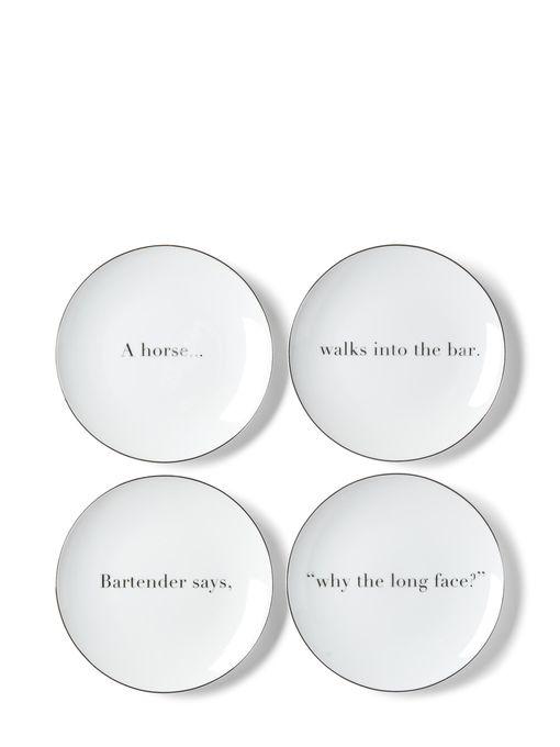 Apartminty Fresh Picks | Animal Theme | Joke Appetizer Plate Set