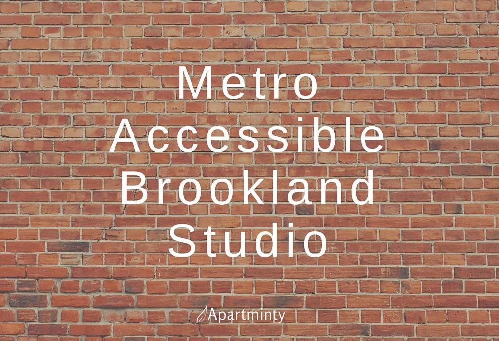 Metro Accessible Brookland Studio With A Suburban Feel