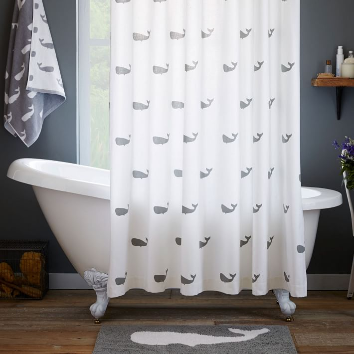 Apartminty Fresh Picks | Animal Theme | Whale Shower Curtain