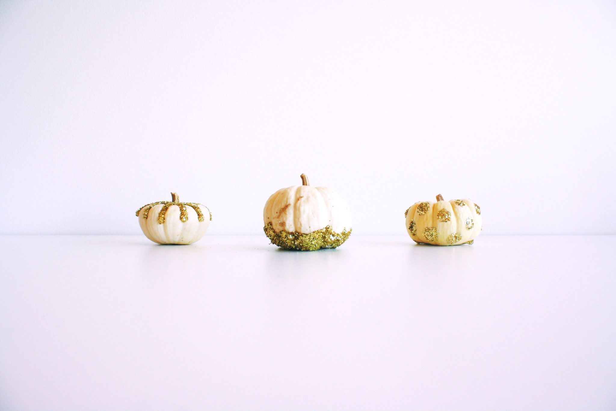 No-Carve Glitter Pumpkins