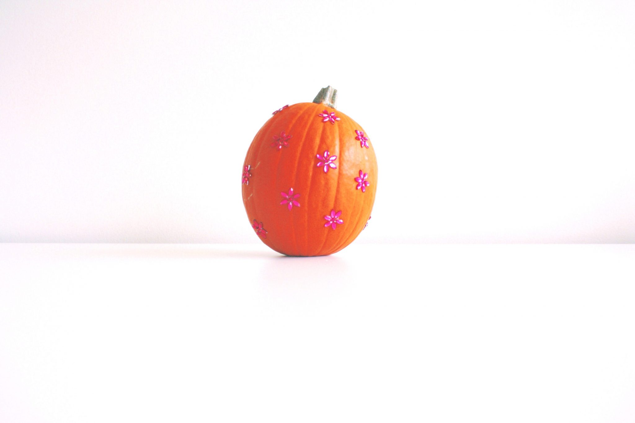 Rhinestone Decorated Halloween Pumpkins
