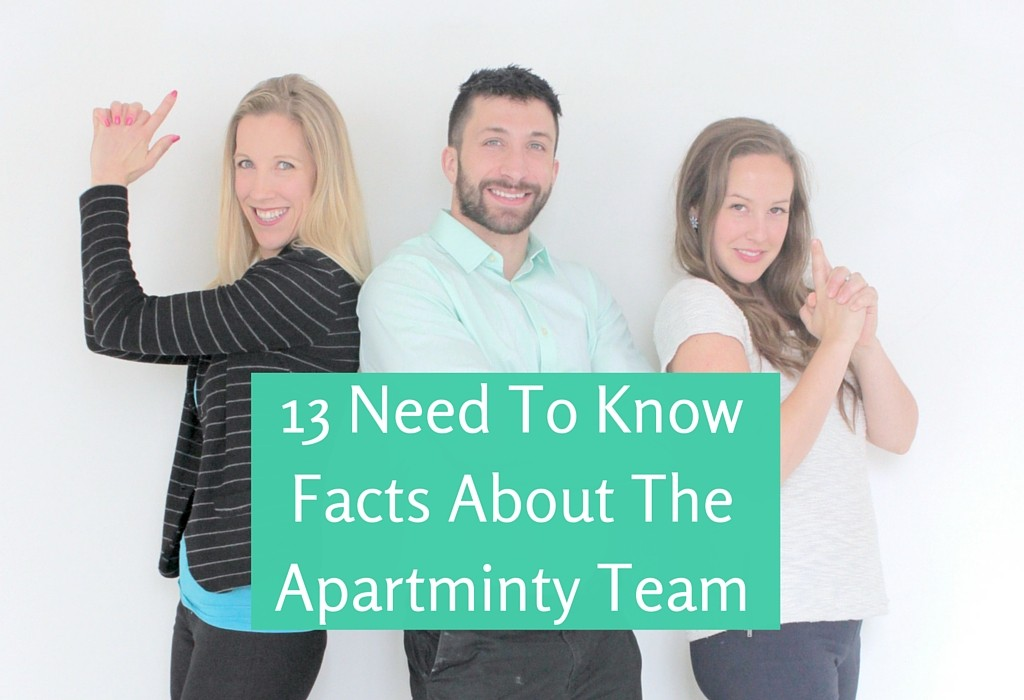 13 Things About the Apartminty Team