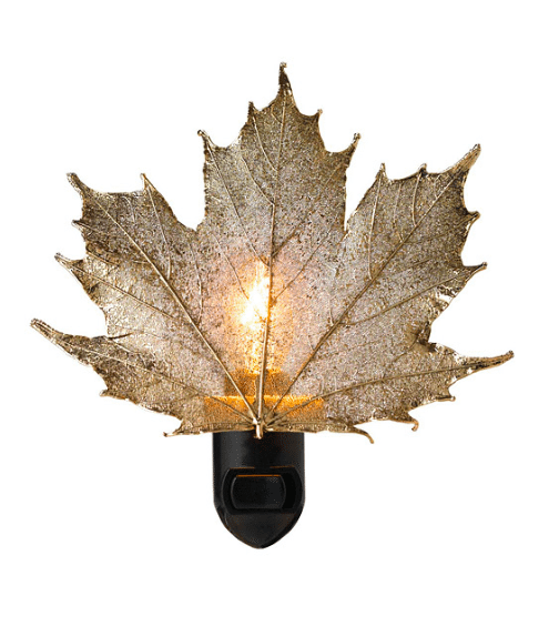 Apartminty Fresh Picks | Fall Favorites | Real Sugar Maple Leaf Night Light From Uncommon Goods