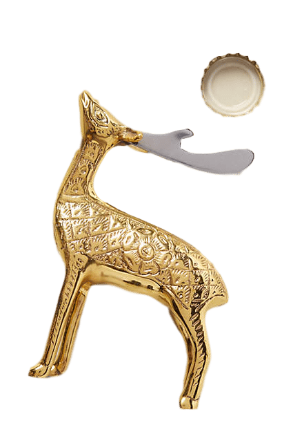 Brass Stag Bottle Opener | Emergency Gifts to Keep on Hand This Holiday Season