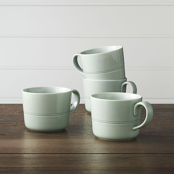 Apartminty Fresh Picks | Fall Favorites | Apartment Decor | Set of 4 Hue Green Mugs