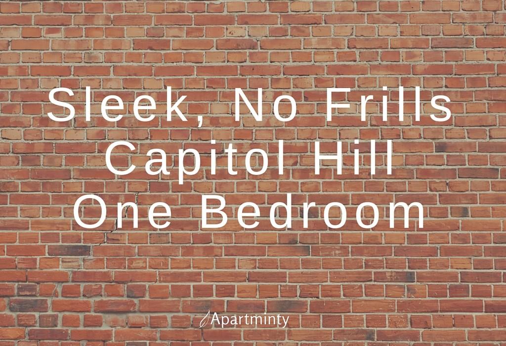 Sleek, No Frills Capitol Hill One Bedroom