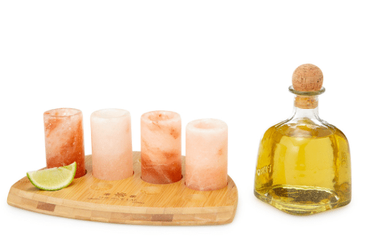 Holiday Gift Guide: Perfect Picks For The Happy Hour Enthusiast On Your List | Himalayan Salt Tequila Glasses