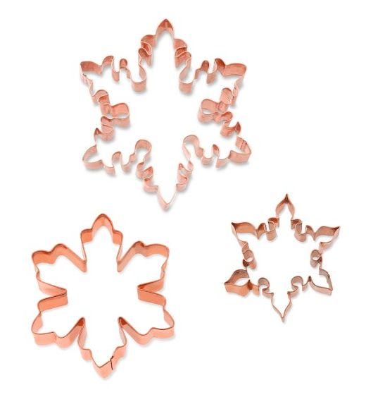 Holiday Gift Guide: Presents Fit For A Foodie | Snowflake Copper Cookie Cutters
