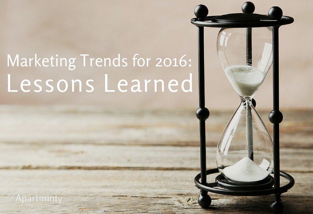 Multifamily Marketing Trends: Lessons Learned