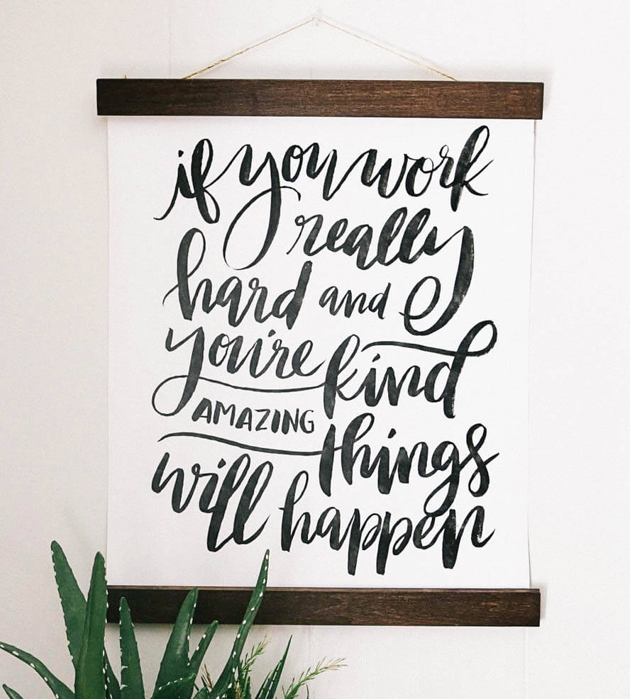 Apartment Decor | Apartminty Fresh Picks: If These Walls Could Talk | Work Hard, Be Kind