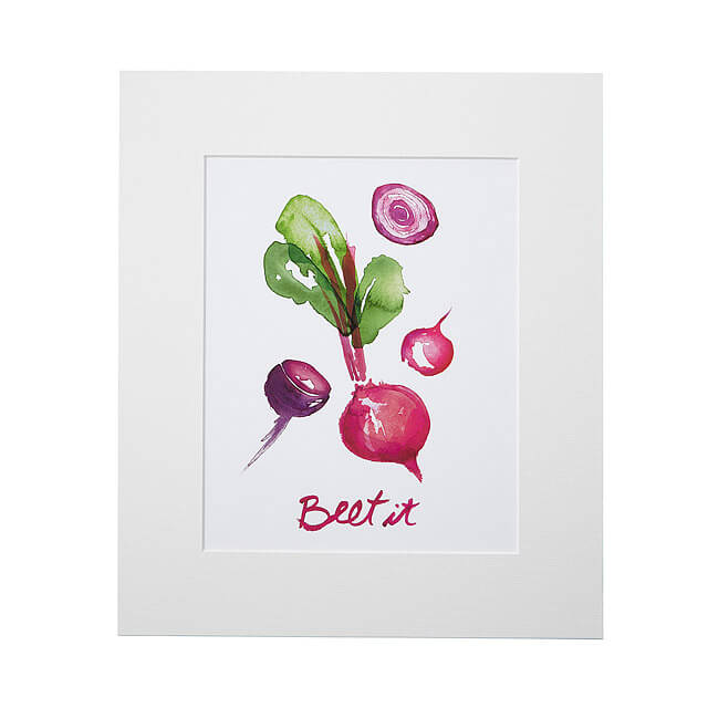 Apartment Decor | Apartminty Fresh Picks: If These Walls Could Talk | Beet It Word Art Print