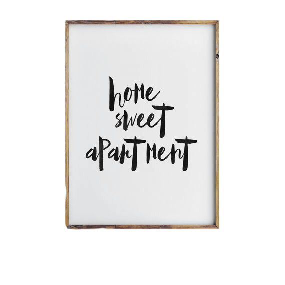 Apartment Decor | Apartminty Fresh Picks: If These Walls Could Talk | Home Sweet Apartment Word Art Printable