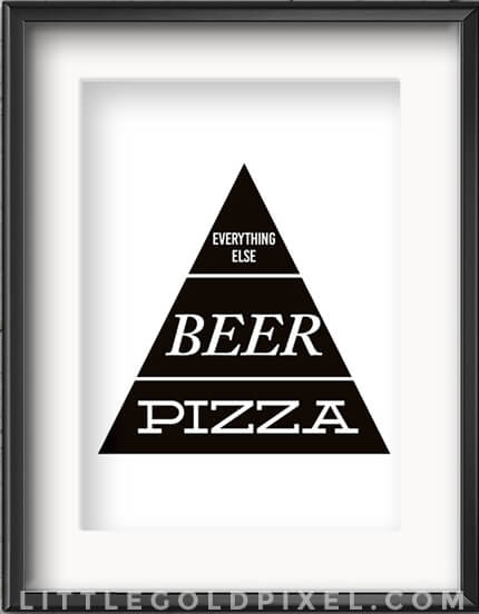 Apartment Decor | Apartminty Fresh Picks: If These Walls Could Talk | Pizza & Beer Food Pyramid