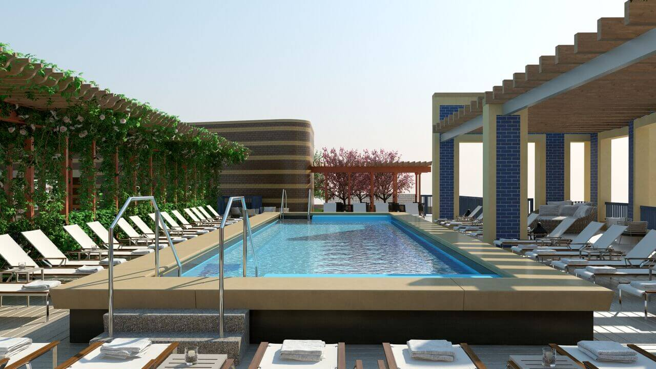 Brand new amenity stacked apartment community in dc for Pool design washington dc