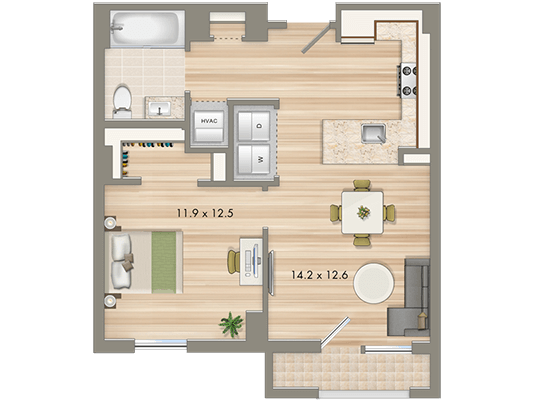 affordable 1 bedroom apartments in dc. park-chelsea-apartments-washington-dc-1-bedroom-floorplan- affordable 1 bedroom apartments in dc