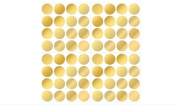 Temporary Rental Decor | Gold Foil Confetti Dots