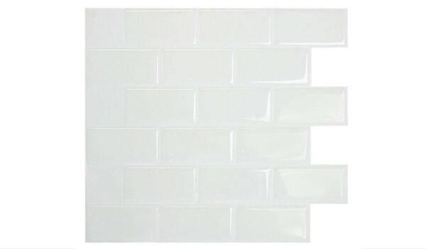 Temporary Rental Decor | Peel and Stick White Subway Tile