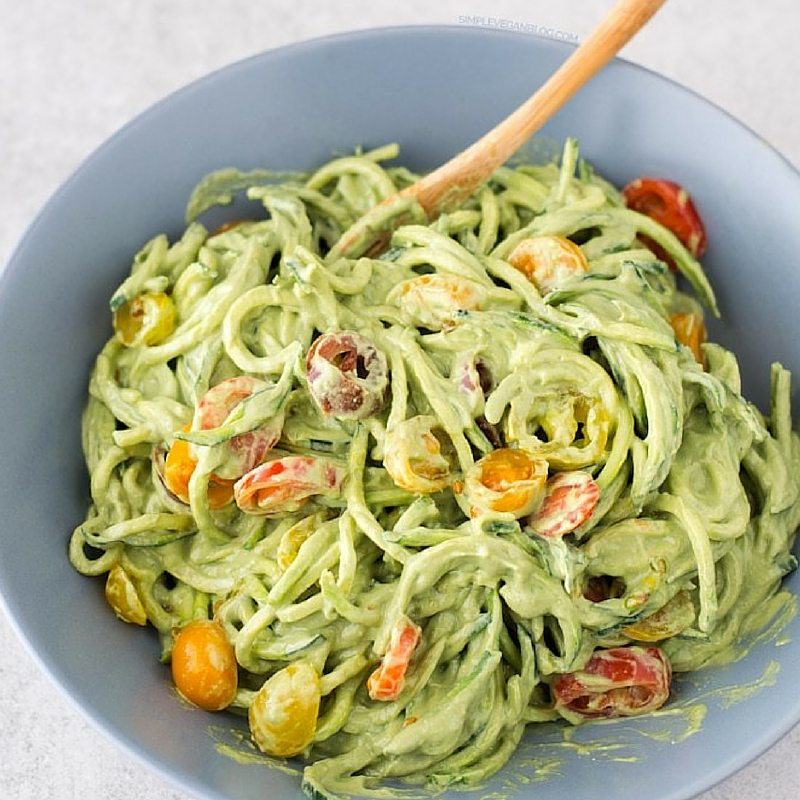 Our Favorite Spring Recipes | Zucchini Noodles With Avocado Sauce