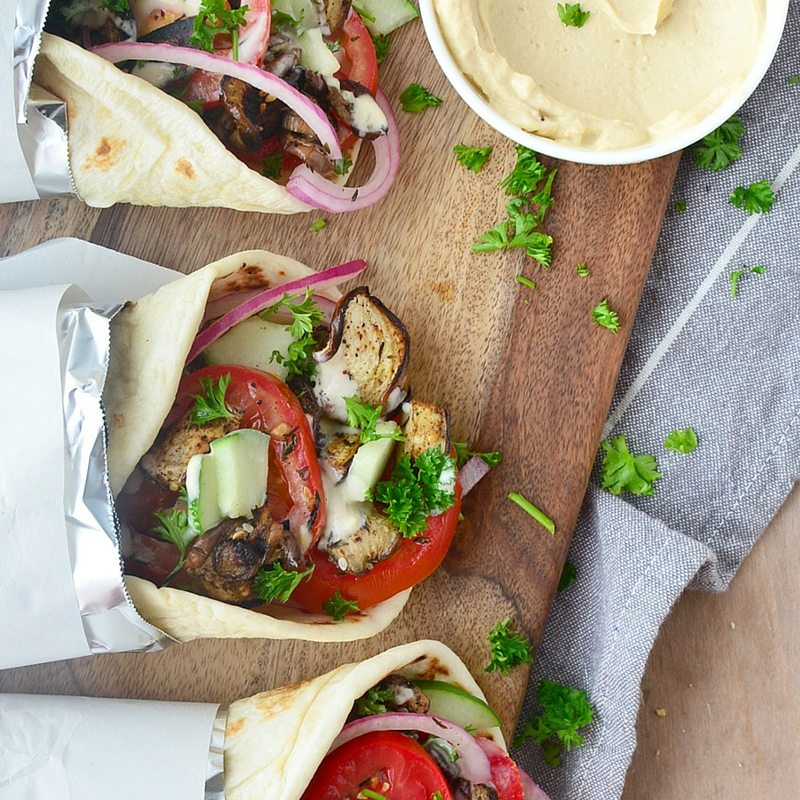 Our Favorite Spring Recipes | Vegan Eggplant Gyros