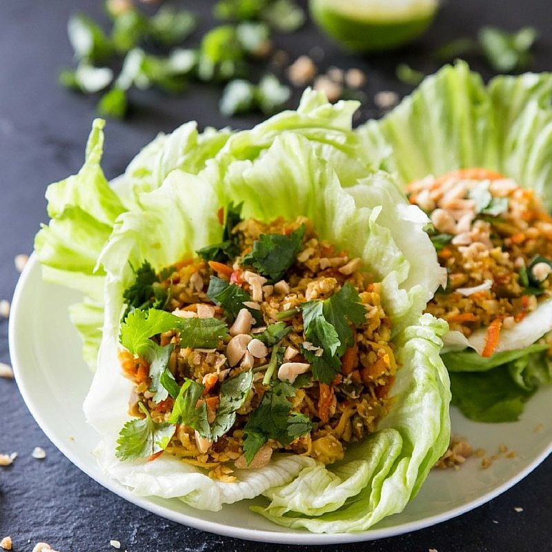 Our Favorite Spring Recipes | Cauliflower Rice Lettuce Cups
