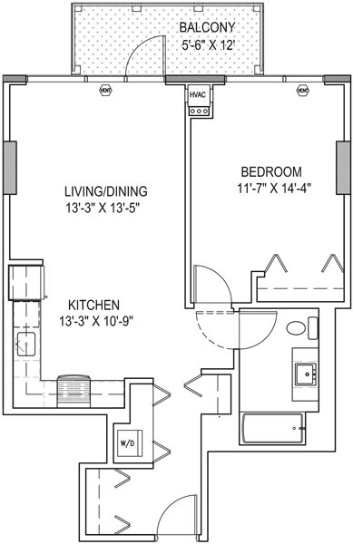 A 1 Bedroom At K2 For 2 045 Month Yochicago