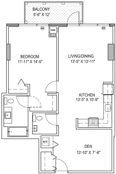 South wabash apartments in south loop chicago il 1 bedroom plus den1 Bedroom Apartments Chicago  S Martin Luther King Jr Dr 1 Bed  . 1 Bedroom Apartments In Chicago Il. Home Design Ideas