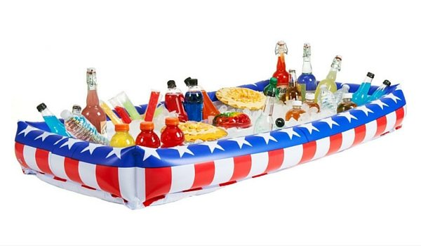 Apartminty Fresh Picks: Fourth of July Accessories | Patriotic Inflatable Buffet Cooler