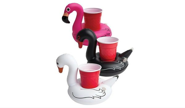 Apartminty Fresh Picks: Pool Accessories | Inflatable Swan Cup Holders