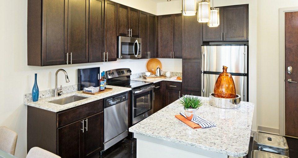 Best Apartment Kitchens in Washington DC   Monroe Street Market Apartments    Washington DC