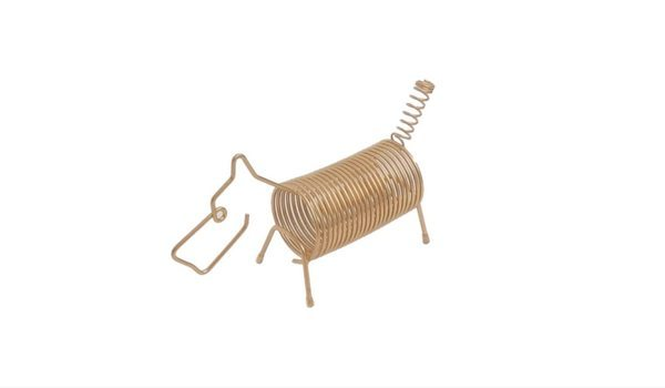 Apartminty Fresh Picks: Kick The Clutter In Your Apartment With These Mail Organizers   Gold Wire Dog Mail Holder