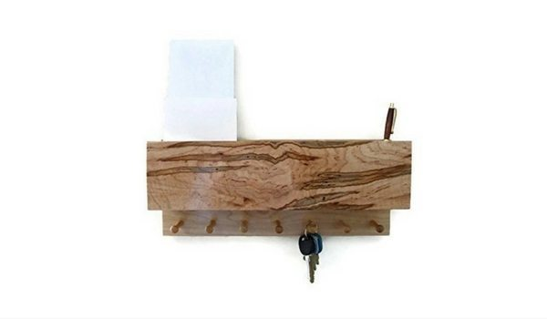 Apartminty Fresh Picks: Kick The Clutter In Your Apartment With These Mail Organizers   Handcrafted Ambrosia Maple Mail & Key Holder