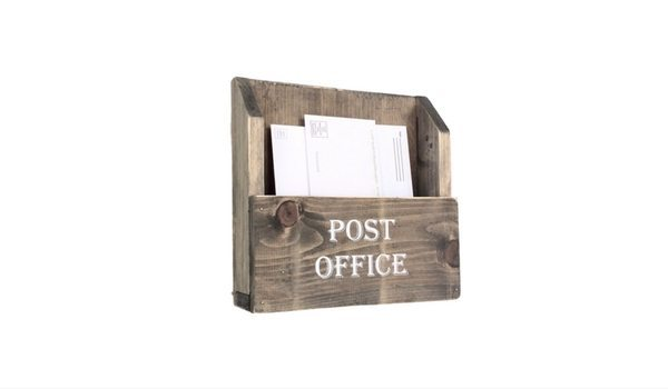 Apartminty Fresh Picks: Kick The Clutter In Your Apartment With These Mail Organizers   Reclaimed Barnwood Post Office Mail Holder