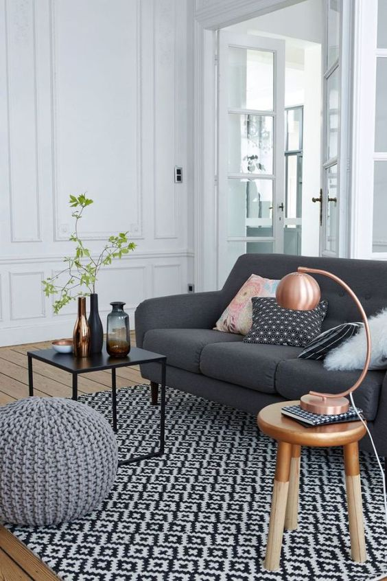 Fall Apartment Decor Trends | Copper Accents