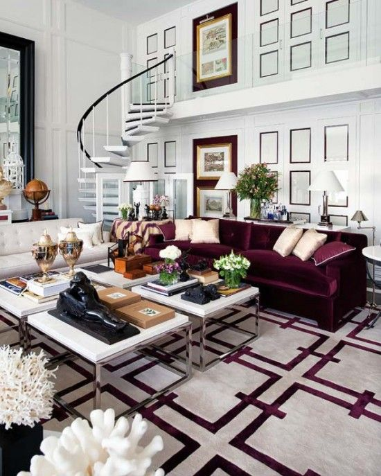 Fall Apartment Decor Trends | Oxblood Hues