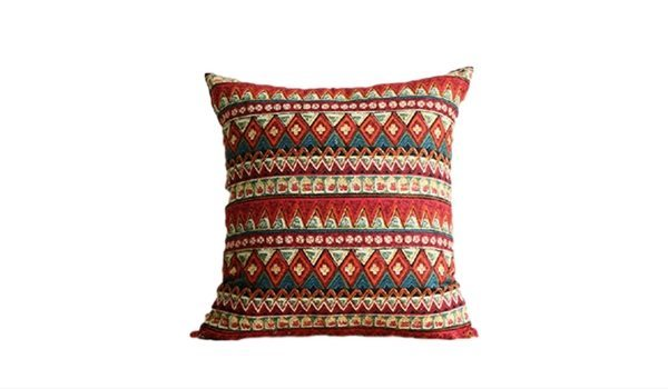 Apartminty Fresh Picks: Bohemian Chic Apartment Decor   Red Patterned Throw Pillow Cover