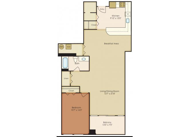 bedroom floorplan 222 saratoga apartments in baltimore md