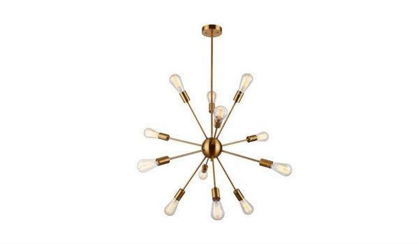 Apartminty Fresh Picks: Brass Accents Apartment Decor | DAKYUE 12 Light Brass Pendant Light
