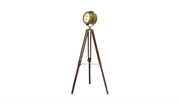Apartminty Fresh Picks: Brass Accents Apartment Decor | Industrial Chic Standing Studio Light