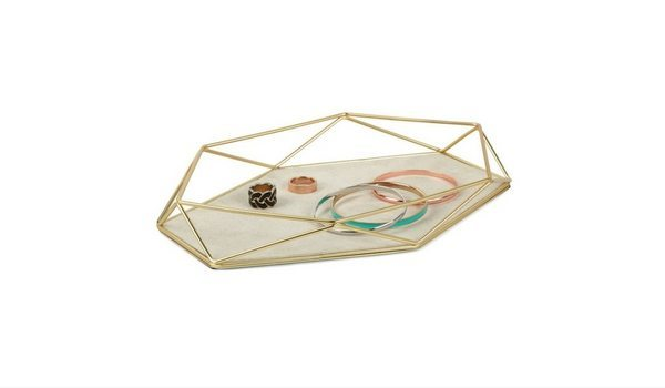 Apartminty Fresh Picks: Brass Accents Apartment Decor | Umbra Prisma Jewelry Tray