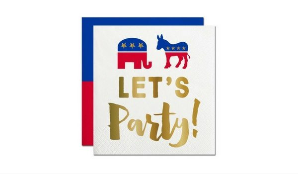 "Apartminty Fresh Picks | Election Day Party | ""Let's Party"" Presidential Election Cocktail Napkins"