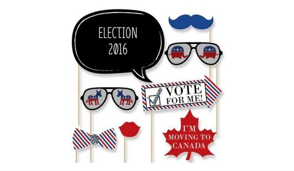 Apartminty Fresh Picks | Election Day Party | 2016 Presidential Election Photo Booth Props